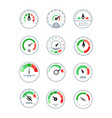 different speedometers collection - set vector image