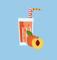 Fresh Peach Juice Drink vector image vector image