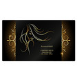 girl with golden hair and ornament business card vector image vector image