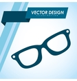 glasses icon design vector image vector image