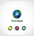 green house logo symbol icon vector image