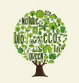 green tree for environment help and eco concept vector image