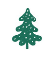 green xmas tree isolated on white tree vector image vector image
