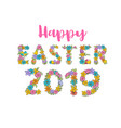happy easter label cute holiday spring vector image vector image