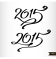 Happy New Year Handwritten calligraphic watercolor vector image vector image