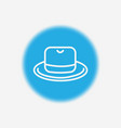 hat icon sign symbol vector image