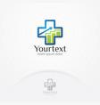 health statistic logo vector image vector image