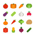 healthy vegetables icon vector image