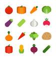 healthy vegetables icon vector image vector image