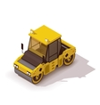 isometric road roller vector image vector image