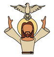 jesus christ holy spirit catholic vector image vector image