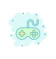 joystick sign icon in comic style gamepad cartoon vector image