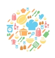 Kitchen and cooking icons background vector image vector image