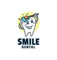 logo smile mascot cartoon style vector image