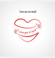 love you so much typographical design elements vector image vector image