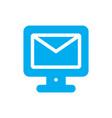 mail monitor logo vector image vector image