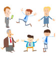 men or businessmen cartoon characters collection vector image