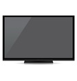 modern blank flat screen tv isolated on white back vector image