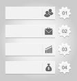 Number options banner for your infographics vector image vector image