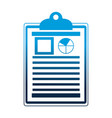 office clipboard document report diagram vector image vector image
