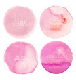 pink watercolor circle background vector image