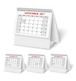 Realistic wall calendar with spring vector image vector image