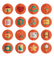 round media icons vector image vector image
