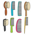 set of comb vector image