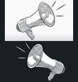 sketch doodle megaphone horn loudspeaker outline vector image vector image