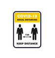 social distancing sign please keep distance vector image