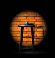 stand up comedy show - microphone on stool in ray vector image vector image