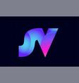 sv s v spink blue gradient alphabet letter vector image vector image