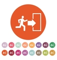 The exit icon Emergency Exit symbol Flat vector image vector image