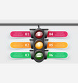traffic light infographic six items vector image vector image