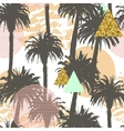 Tropical palm trees seamless background