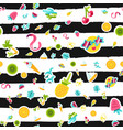 tropical summer seamless pattern in doodles vector image vector image