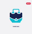 two color hand bag icon from fashion and commerce vector image vector image