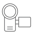 video camera thin line icon electronic and device vector image vector image