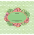 Vintage frame on floral background vector image vector image