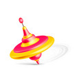whirligig toy isolated on white background vector image vector image
