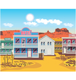 wild west houses vector image