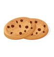 Isometric style 3d of cookies with chocolate vector image