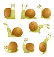 snails set vector image