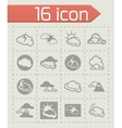 Clouds icon set vector image
