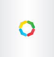 abstract circle colorful logo branding icon vector image