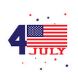 forth of july concept independence day with usa vector image