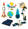 astronomy symbols and pictures vector image vector image