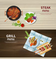 bbq banners set vector image