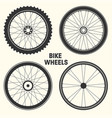 bicycle wheel symbol bike vector image