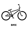 BMX bike icon simple style vector image vector image